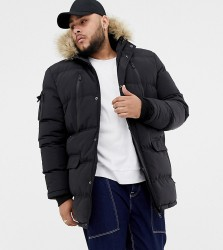Good For Nothing parka coat in black exclusive to ASOS - Black