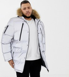 Good For Nothing parka coat in reflective exclusive to ASOS - Silver