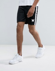 Good For Nothing Poly Shorts In Black - Black