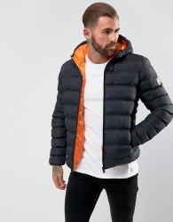 Good For Nothing Puffer Jacket In Black - Black