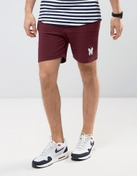 Good For Nothing Shorts In Burgundy - Red