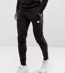 Good For Nothing Skinny Joggers In Black with Small Logo - Black