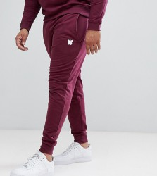 Good For Nothing Skinny Joggers In Burgundy with Small Logo Exclusive to ASOS - Red