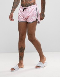 Good For Nothing Swim Shorts In Pink Camo - Pink