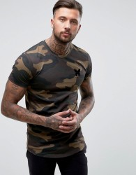 Good For Nothing T-Shirt In Khaki Camo - Green