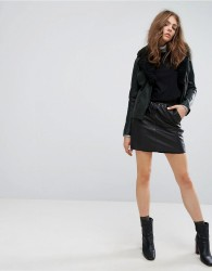 Goosecraft Leather Skirt - Black