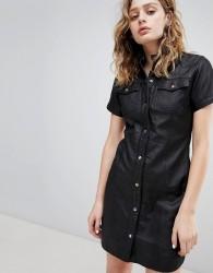 Goosecraft Leather Western Dress - Black