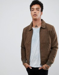 Goosecraft Suede Jacket in Taupe - Brown
