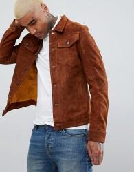 Goosecraft Western Suede Jacket in Brown - Brown