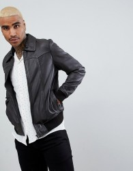 Goosecraft Zagreb Leather Bomber Jacket in Brown - Brown