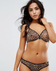 Gossard Glossies Leopard Sheer Bra A - G Cup - Brown