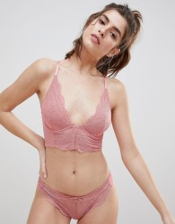 Gossard Superboost Apricot Lace Bralette B-G Cup - Pink