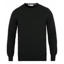 Gran Sasso Merino Fashion Fit Crew Neck Pullover Black