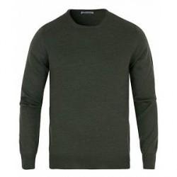 Gran Sasso Merino Fashion Fit Crew Neck Pullover Green