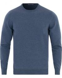 Gran Sasso Merino Fashion Fit Crew Neck Pullover Mid Blue men 52