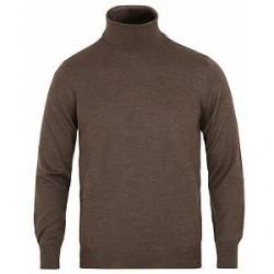 Gran Sasso Merino Fashion Fit Rollneck Brown
