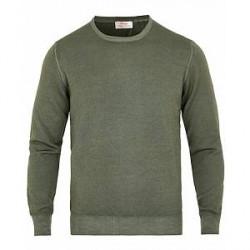 Gran Sasso Vintage Merino Fashion Fit Crew Neck Pullover Green