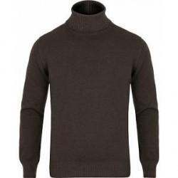 Gran Sasso Wool Vintage Fashion Fit Rollneck Brown