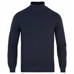Gran Sasso Wool Vintage Fashion Fit Rollneck Navy