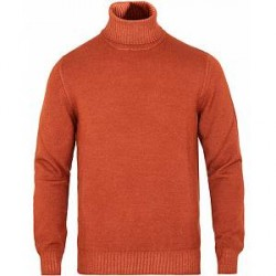 Gran Sasso Wool Vintage Merino Fashion Fit Rollneck Rust