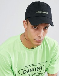 Granted Baseball Cap In Black With Nuclear Embroidery - Black