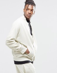 Granted Bomber Jacket With Rouched Sleeves - Stone