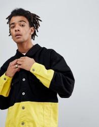 Granted Contrast Denim Jacket In Black - Black