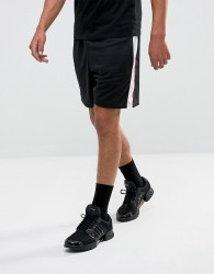 Granted Shorts In Black Mesh With Stripes - Black