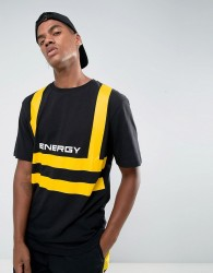 Granted T-Shirt In Black With Energy Print - Black