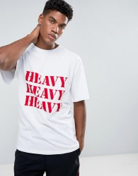 Granted T-Shirt In White With Heavy Print - White