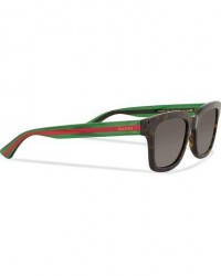 Gucci GG0001S Sunglasses Avana/Green/Grey men One size Brun