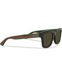 Gucci GG0001S Sunglasses Black/Green men One size Sort
