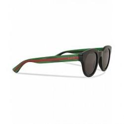 Gucci GG0002S Sunglasses Black/Green/Grey
