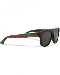 Gucci GG0003S Sunglasses Black/Green/Grey men One size Sort