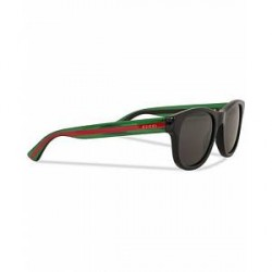 Gucci GG0003S Sunglasses Black/Green/Grey