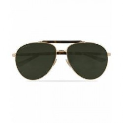Gucci GG0014S Sunglasses Gold/Avana/Green