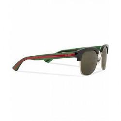 Gucci GG0056S Sunglasses Black/Green