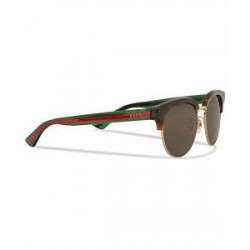 Gucci GG0058SK Sunglasses Avana/Green/Brown