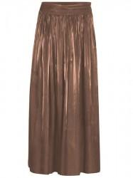 Gustav - High Waist Wide Skirt - Bronze