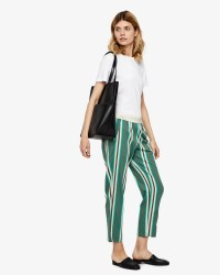 Gustav Striped cropped bukser
