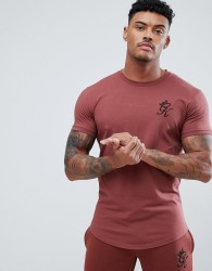 Gym King Logo Muscle Fit T-Shirt In Rust - Red
