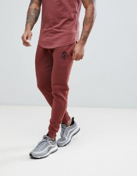 Gym King Logo Skinny Joggers In Rust - Red