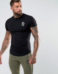 Gym King Logo T-Shirt In Muscle Fit - Black