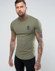 Gym King Logo T-Shirt In Muscle Fit - Green