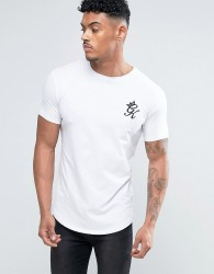 Gym King Logo T-Shirt In Muscle Fit - White