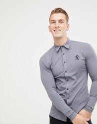 Gym King long sleeve jersey shirt in dark grey - Grey