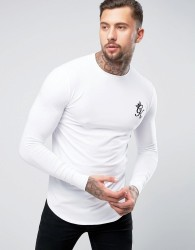 Gym King Long Sleeve T-Shirt In Muscle Fit - White