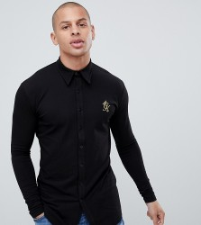 Gym King muscle long sleeve shirt in black exclusive to ASOS - Black