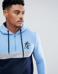 Gym King Muscle Retro Hoodie In Blue - Blue