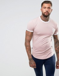 Gym King Muscle Ringer T-Shirt In Pink - Pink